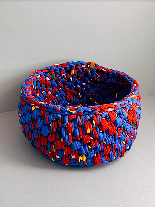 Retro Multicolor (Red Blue Yellow Pink Green) Urchin Basket