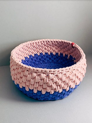 Pink and Perriwinkle Urchin Basket