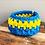 Thumbnail: Blue/Yellow Stripe Urchin Basket
