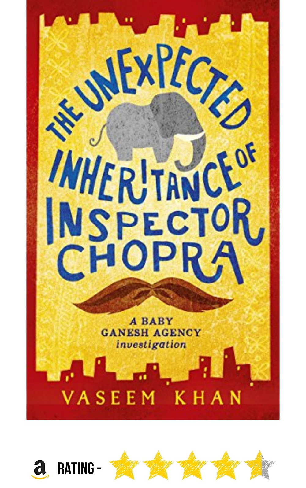 Amazon purchase link to Vaseem Khan's comedy mystery, 'The Unexpected Inheritance of Inspector Chopra'