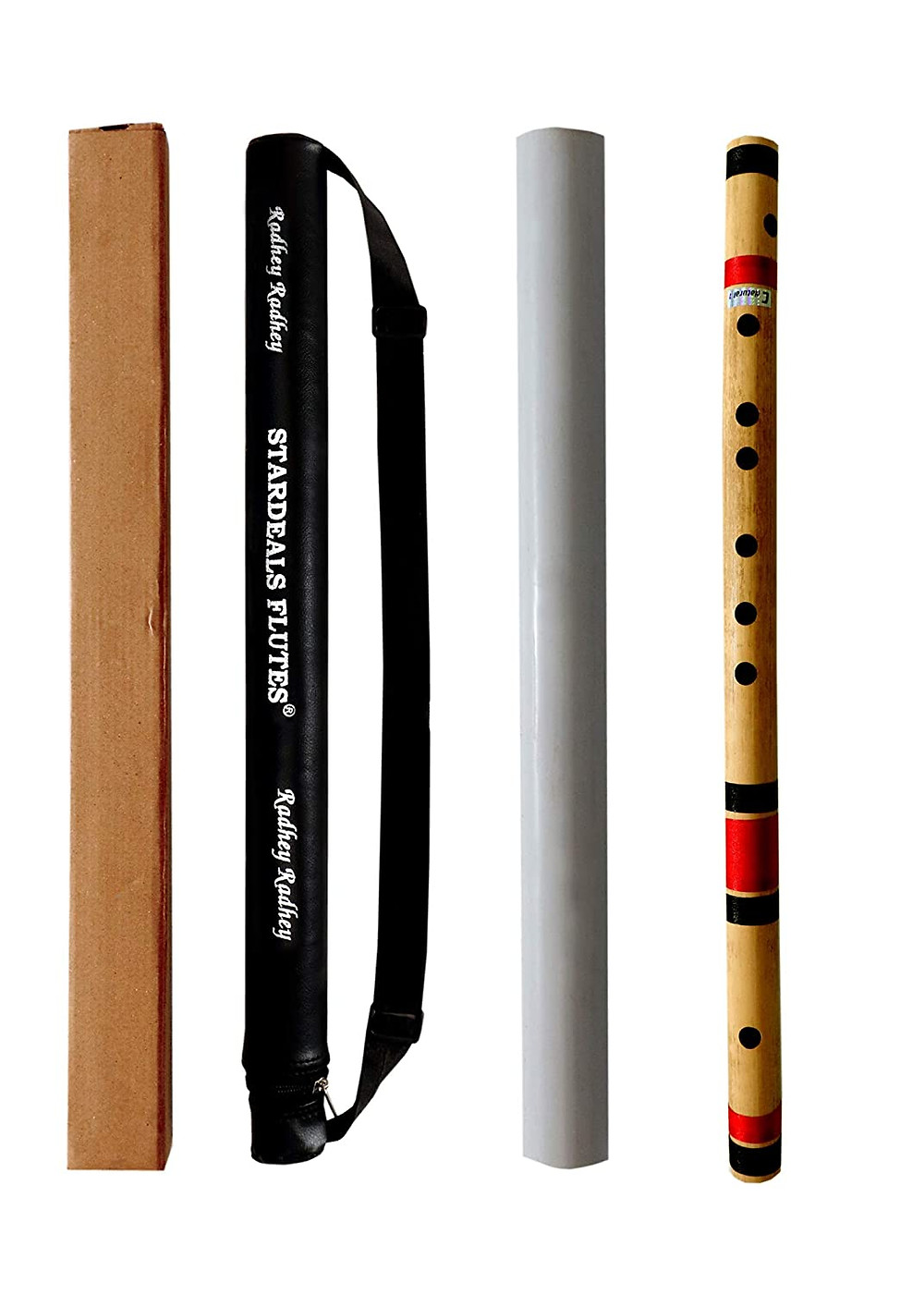 Amazon Purchase link to STARDEALS C Natural 7 Hole Right Hand Bamboo Flute Bansuri Size 19 Inch With Free Carry Bag (Natural Brown)