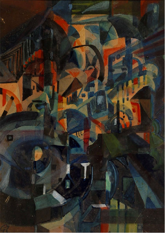 Gaganendranath Tagore - Painting, 1925, 'City in the Night' - Bengal School of Art
