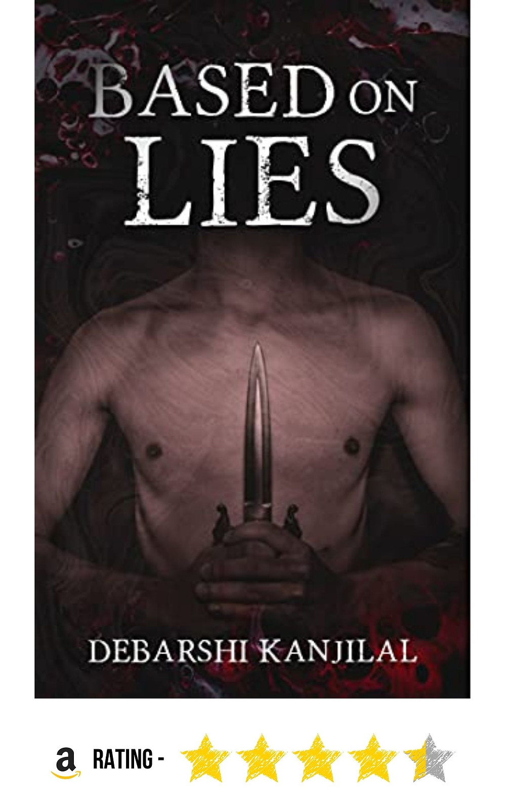 Amazon purchase link to the horror mystery 'Based on Lies', by Debarshi Kanjilal
