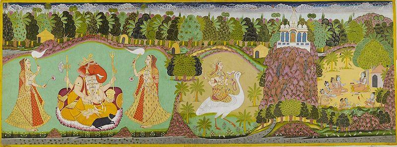Saraswati Paintings, 19th Century