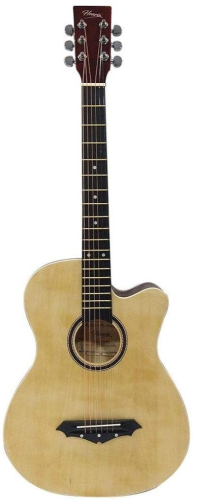 Amazon purchase link to Henrix PRO 38 Inch 6 String Cutaway Acoustic Guitar - Natural