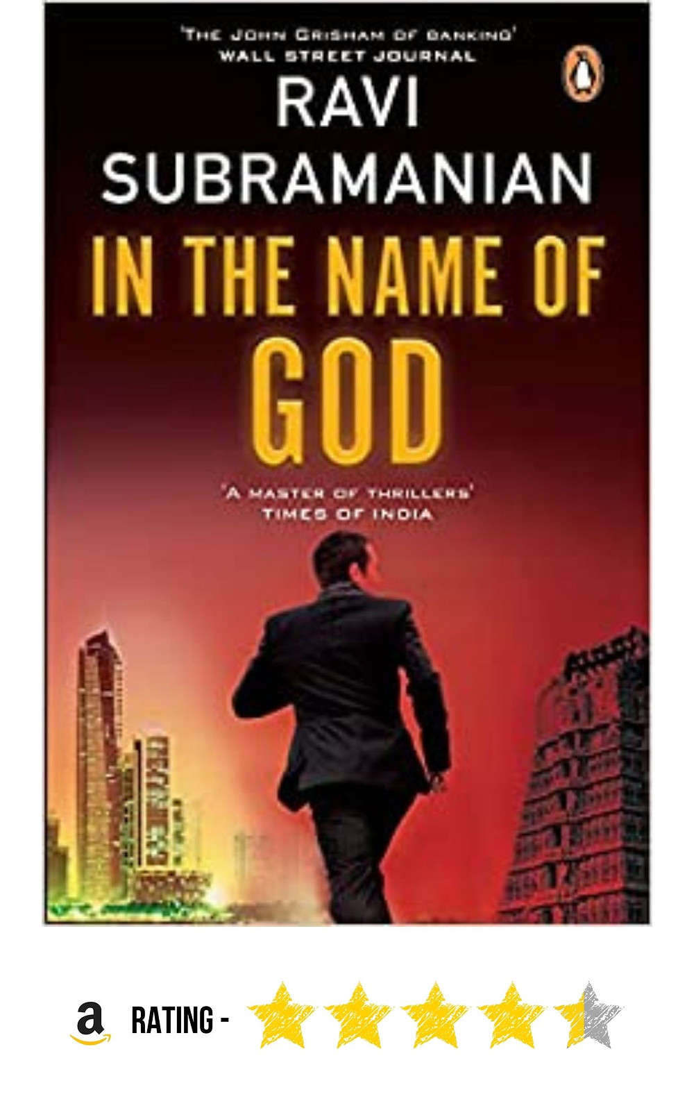 Amazon purchase link to Ravi Subramanian's mystery thriller, 'In the Name of God'