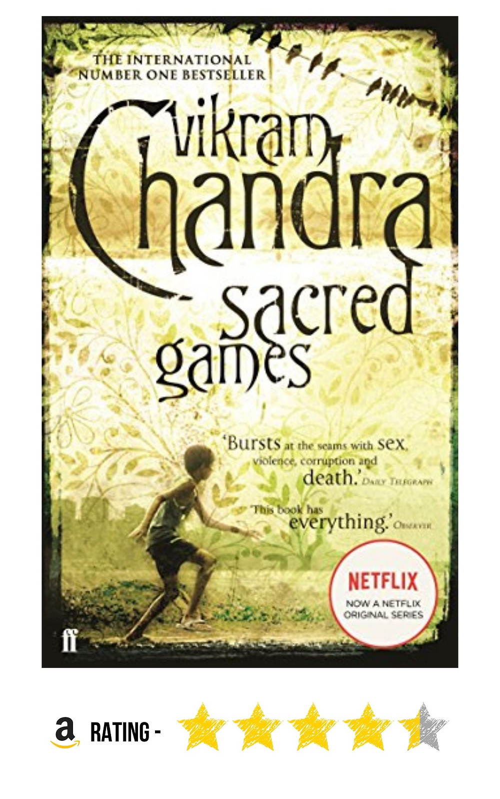 Amazon purchase Link to Vikram Chandra's crime thriller 'Sacred Games'