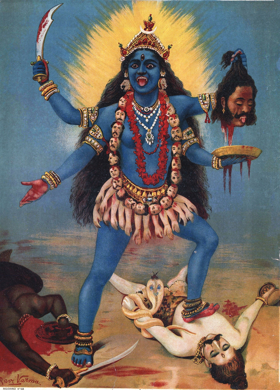'Kali' by Raja Ravi Varma, circa 1906, Oil on Canvas