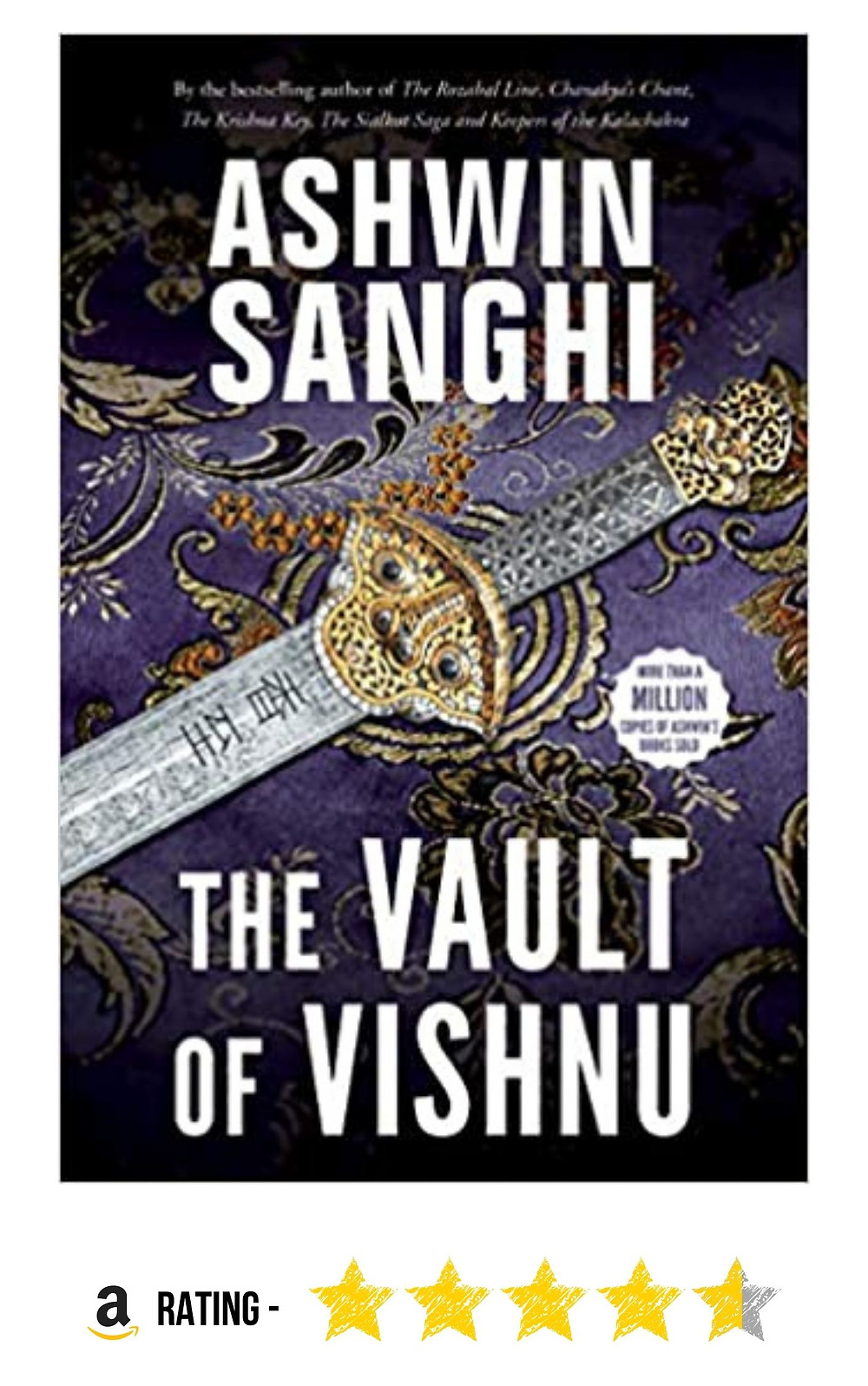 Amazon purchase link to Ashwin Sanghi's historical mystery-thriller, 'The Vault of Vishnu'