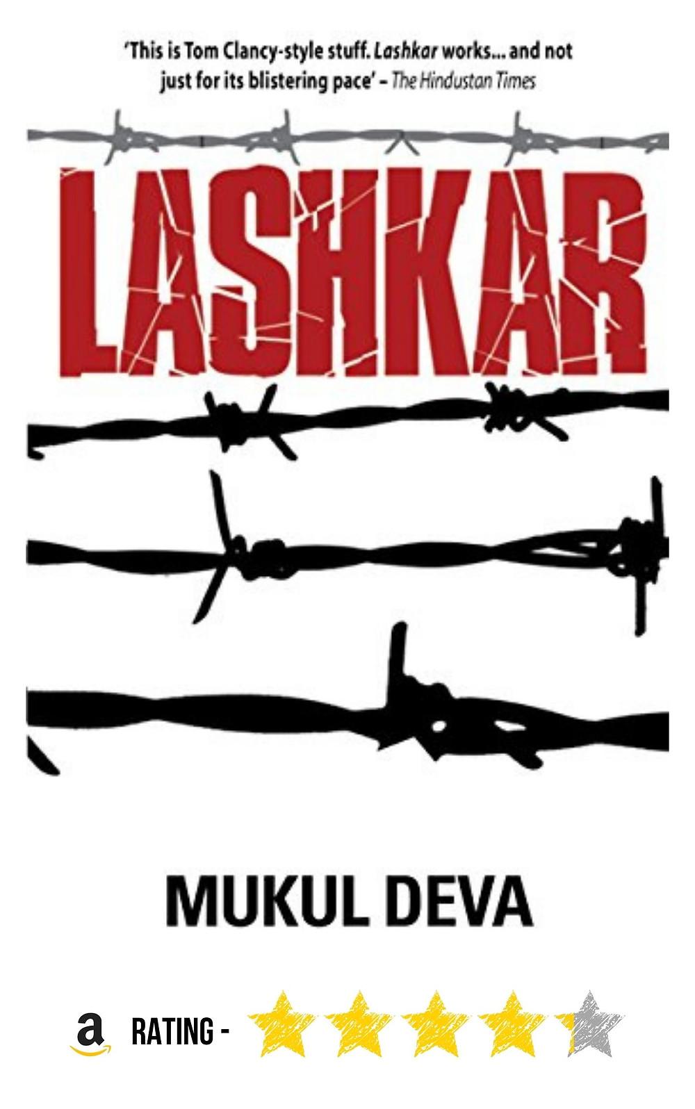 "Amazon purchase link to Mukul Deva's mystery thriller ""Lashkar'"
