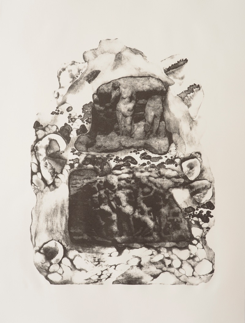 Purgatory, Lithograph on paper, 56 x  76 cm, 2016