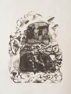 Purgatory, Lithograph on paper, 56 x  76 cm, 2016