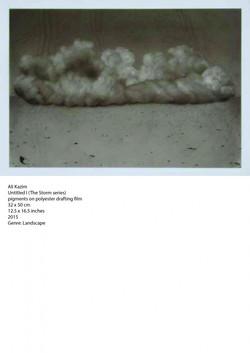 Ali-Kazim-Untitled-I-The-Storm-series-pigments-on-polyester-drafting-film-32-x-50-cm-2015-724x1024