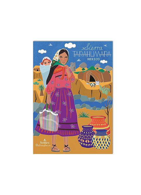 Sierra Tarahumara Illustrated Art Print