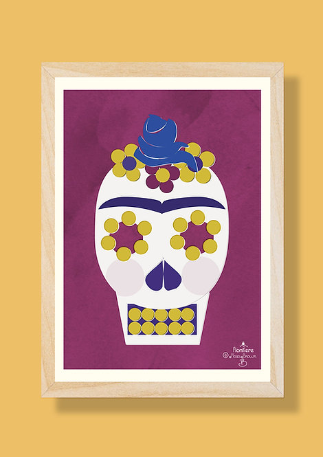 Day of the Dead Illustrated Art Print