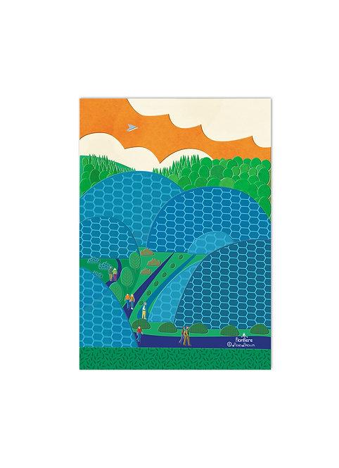 Eden Project  Illustrated Art Print