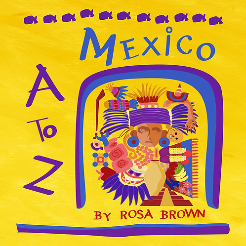 """""""Mexico A to Z"""" Illustrated Concertina Book"""
