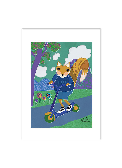 Fox in a Scooter