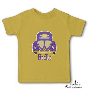 t-shirt-children beetlescars inyellow vw