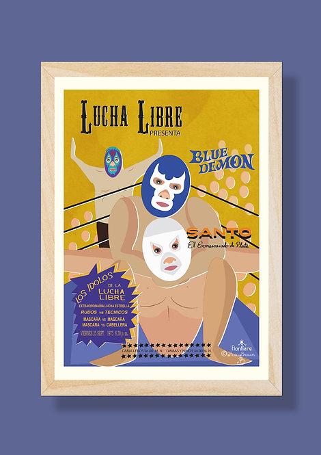 Lucha Libre Illustrated Art Print
