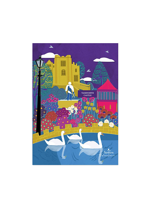 Tamworth Castle  Illustrated Art Print