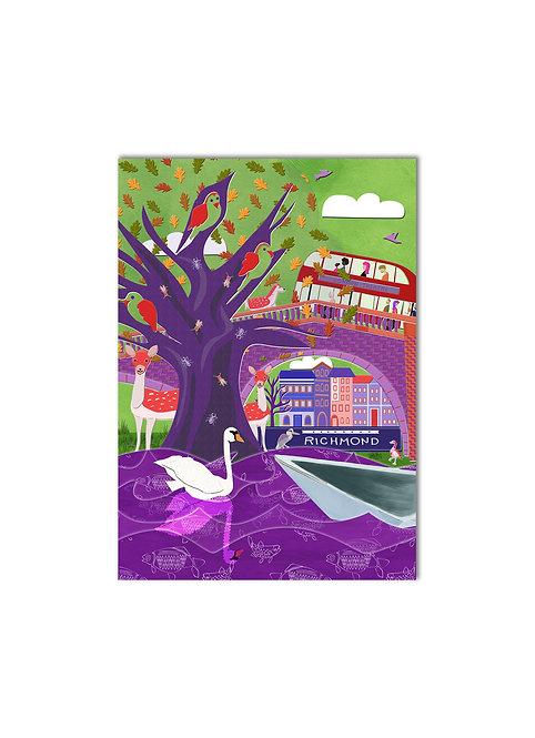 """Richmond Park, London"" - Vivid Illustrated Art Print"