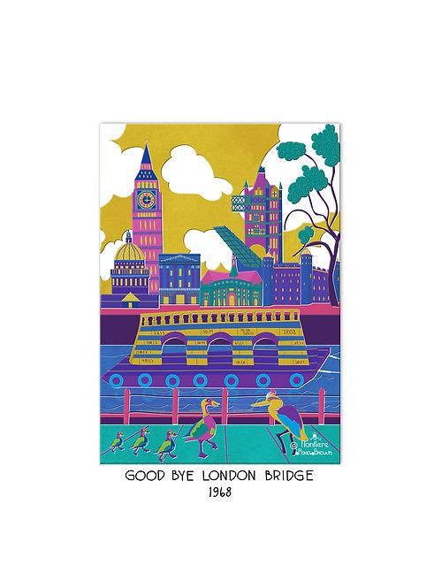 Good Bye London Bridge Illustrated Art