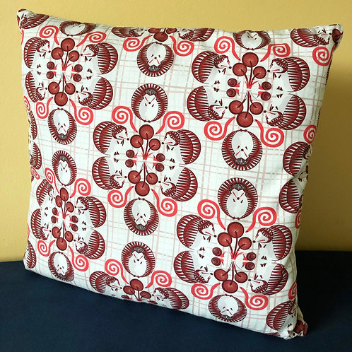 """Hedgehog Circular Pattern"" - Cushion Cover"
