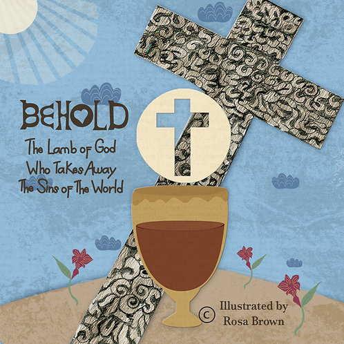 """Behold the Lamb of God"" Illustrated Concertina Book"