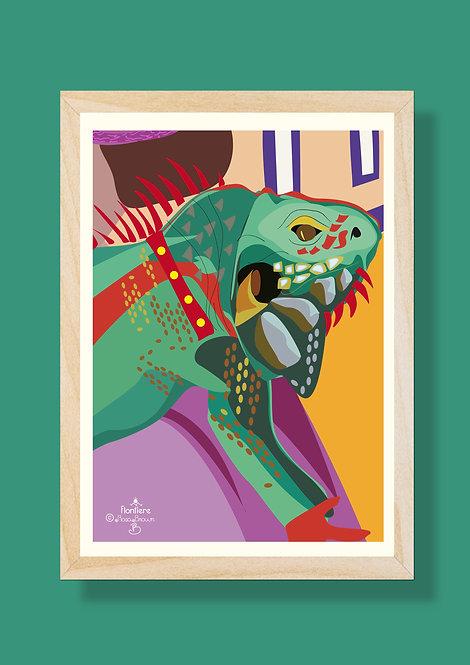 Iguana Illustrated Art Print