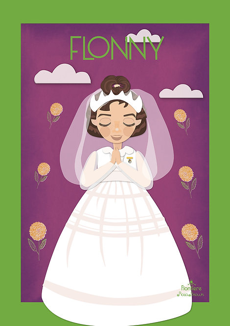 Illustration First Holy Communion Child