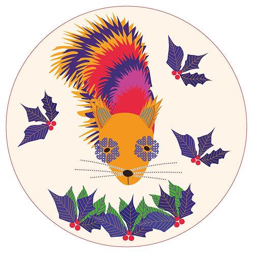 Face Squirrel Circle
