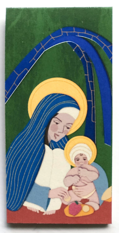 House of Virgin Mary and Baby Jesus  Set of 3
