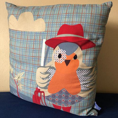 """""""Robin the Gardener"""" Cushion Cover"""