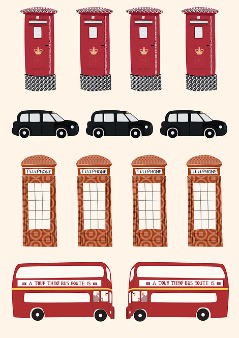 Icons-London Stickers