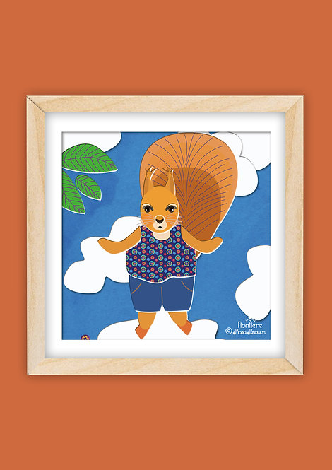 Jumping Red Squirrel (Square)