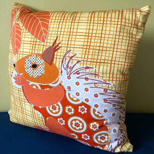 """""""Red Squirrel from the UK"""" Cushion Cover"""