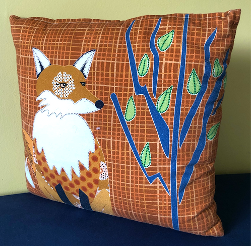 """Fox in a Forest"" Cushion Cover"
