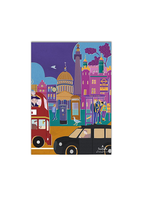 """Iconic Taxi in London""  Art Print Illustration"