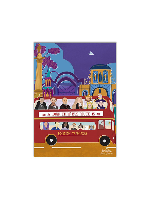 """""""London Bus Route 15 """" Illustrated Art Print"""