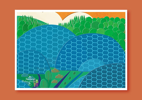 Eden Project  Illustrated Art Print (2)