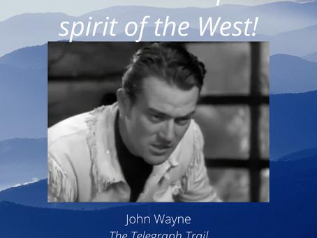 You can't stop it. I can't stop it. It's the West!