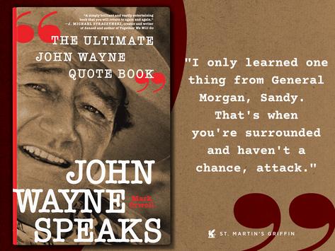 Today's Wayne Whim (17 days until John Wayne Speaks arrives) Pre-order now at https://bit.ly/3E3QVg