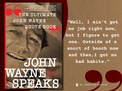 Today's Wayne Whim (18 days until John Wayne Speaks arrives)  Pre-order now at https://bit.ly/3E3QVg