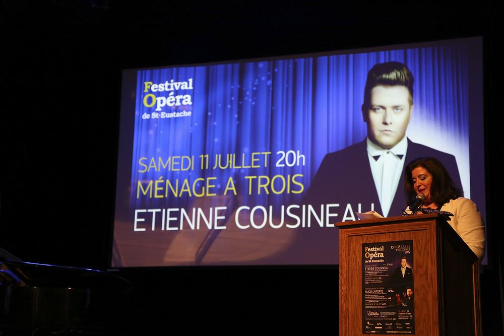 Étienne Cousineau présentera le concert '' Ménage à trois! '' en ouverture du FestivalOpéra
