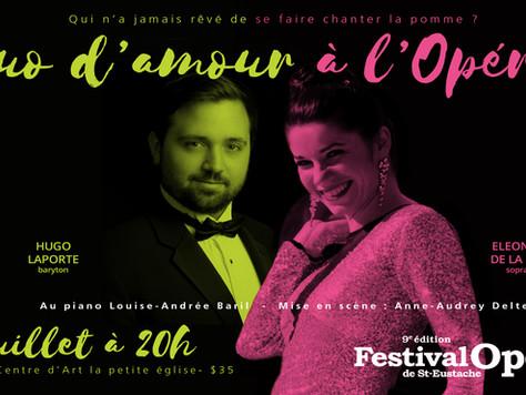 """""""Duo d'amour à l'opéra""""avec Eleonora De La Pena et Hugo Laporte!"""