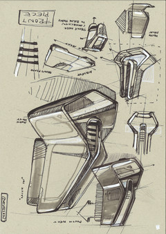 Konstantin Baumann MX Helmet O'neal Helm Industrial Design  Sketches Zeichnungen