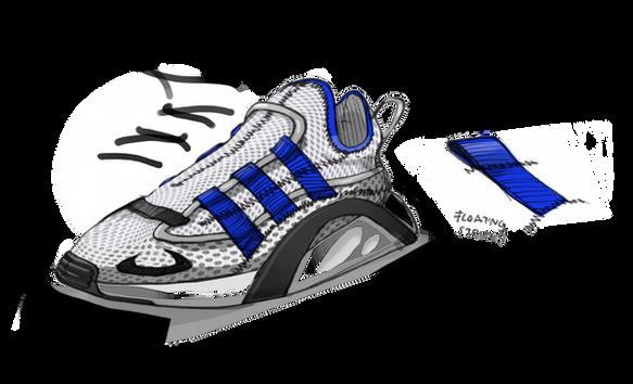 sketch key sketch scribble adidas Originals LXCON lx con lexicon adiprene Footwear design Konstantin Baumann process kamuii kamuii_id kamuii.ooo