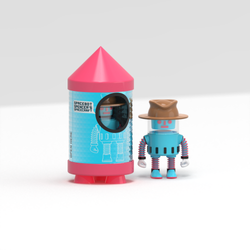 spacebot spencer vinyl toy packaging