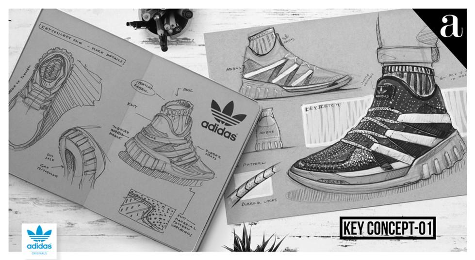Konstantin Baumann Kamuii Kamuii_id Adidas nike sketches sketchbook marker moodboard